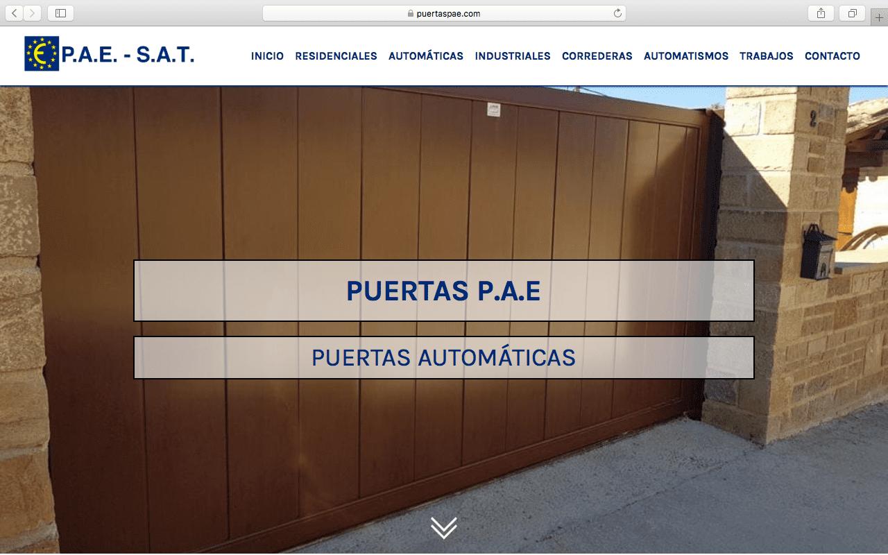 Web Puertas PAE